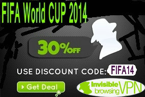 ibVPN 30% OFF for Brazil world CUP